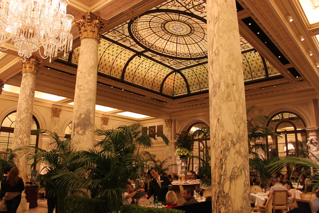 The Plaza Hotel New York The Palm Court Restaurant The