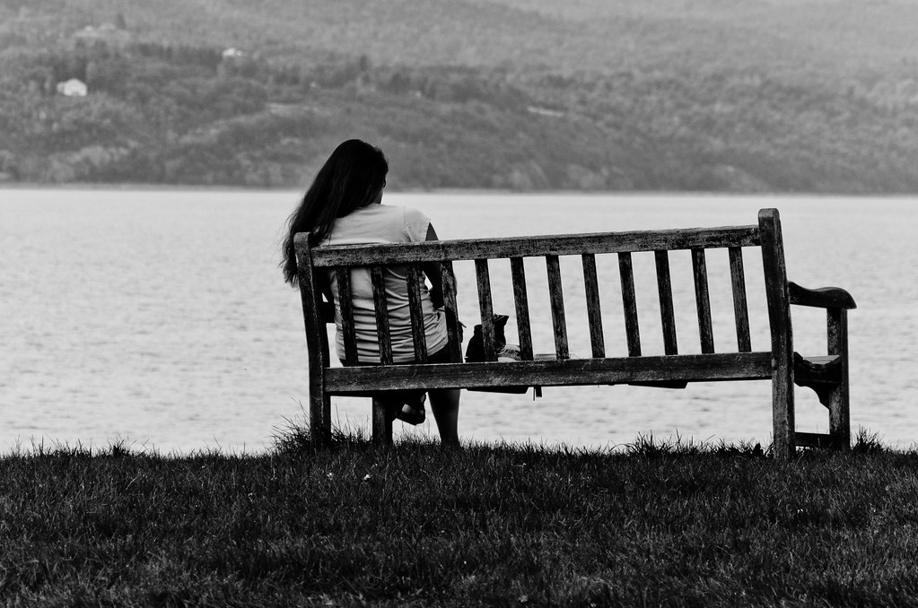 Woman Sitting On A Bench This Photo Was A Pain To Edit