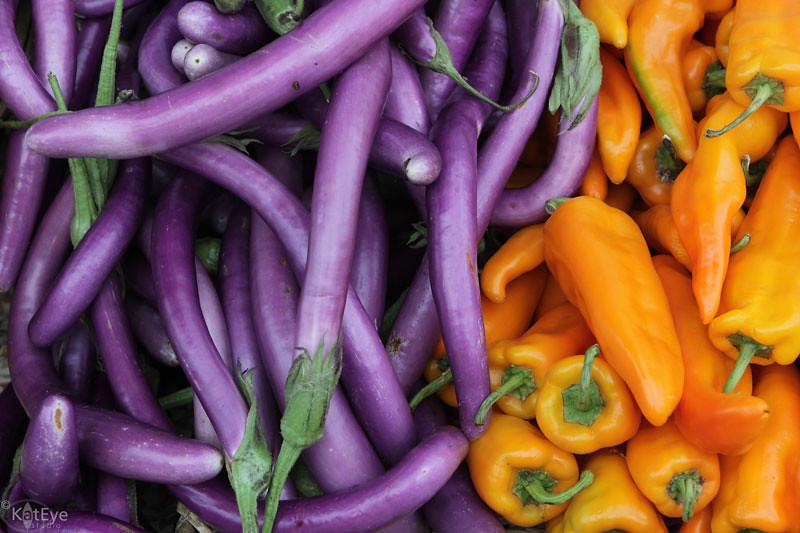 Veggies In Triadic Color