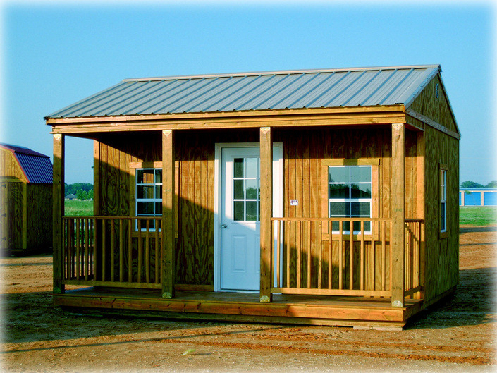 Side Porch Cabin 16x16 Spc Standard Features Included