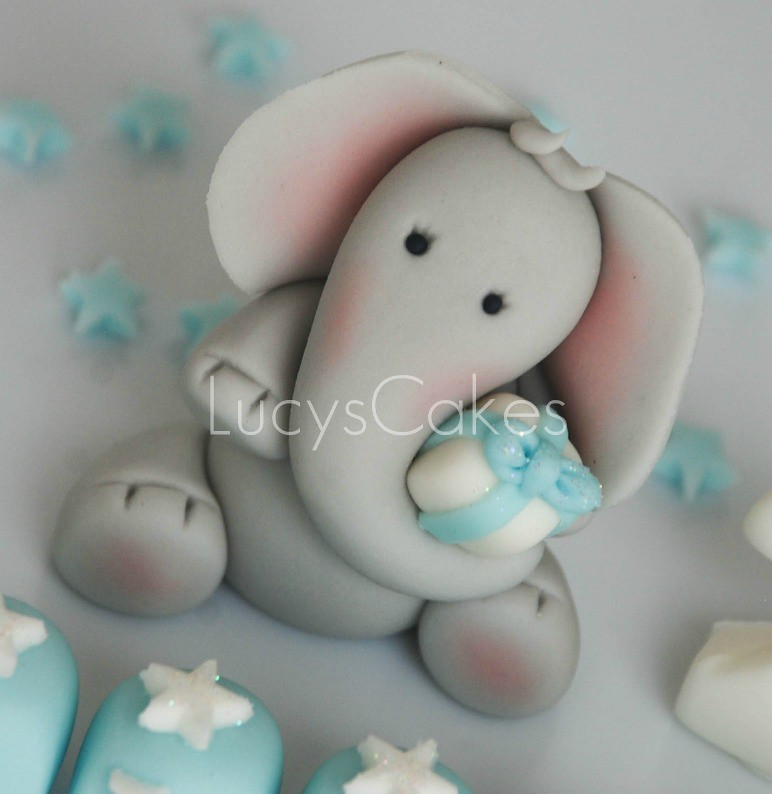 Baby shower cakes baby shower cupcake cake ideas boy - Elephant Birthday Cake Topper Edible Please Click Here