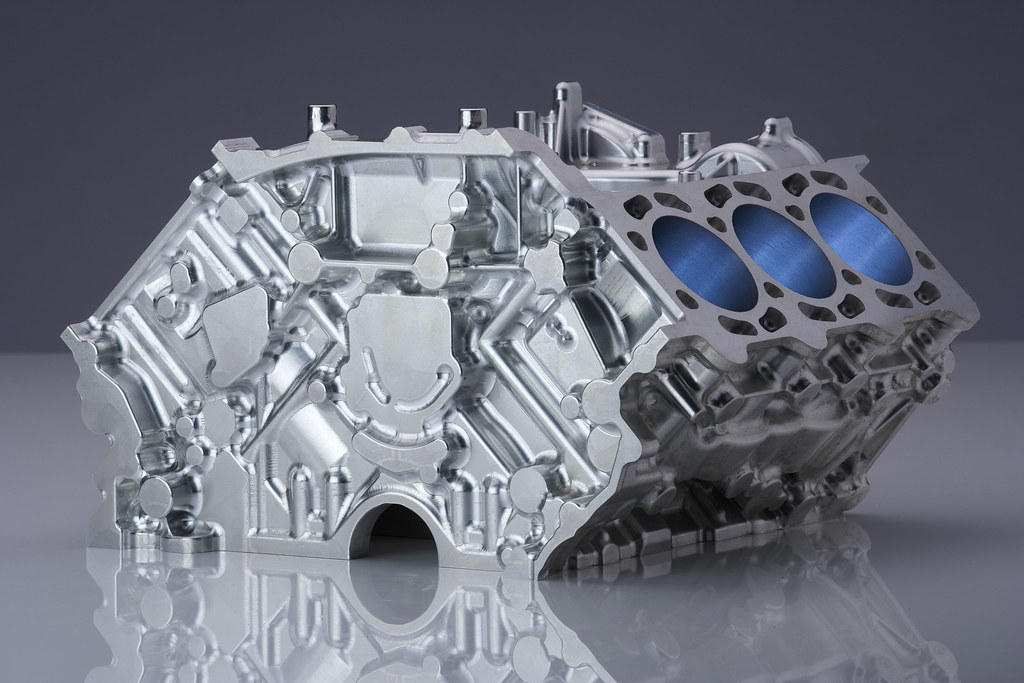 Audi V6 Motorblock Audi V6 Motorblock Cnc Machining
