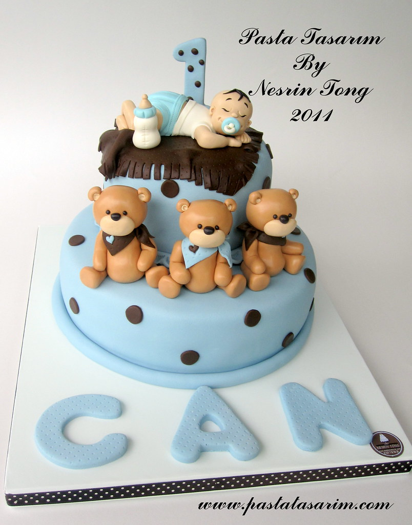 Bday Cake Designs For Baby Boy : sleeping baby boy - can 1st.birthday cake www ...