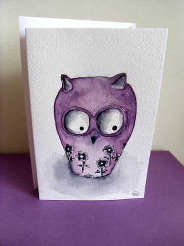 Owl greetings card | by Anna Wand