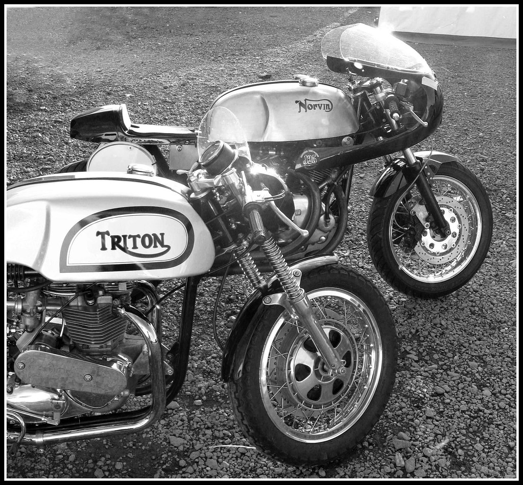 Triton Cafe Racer and a Norvin Racing motorcycle | One is ...