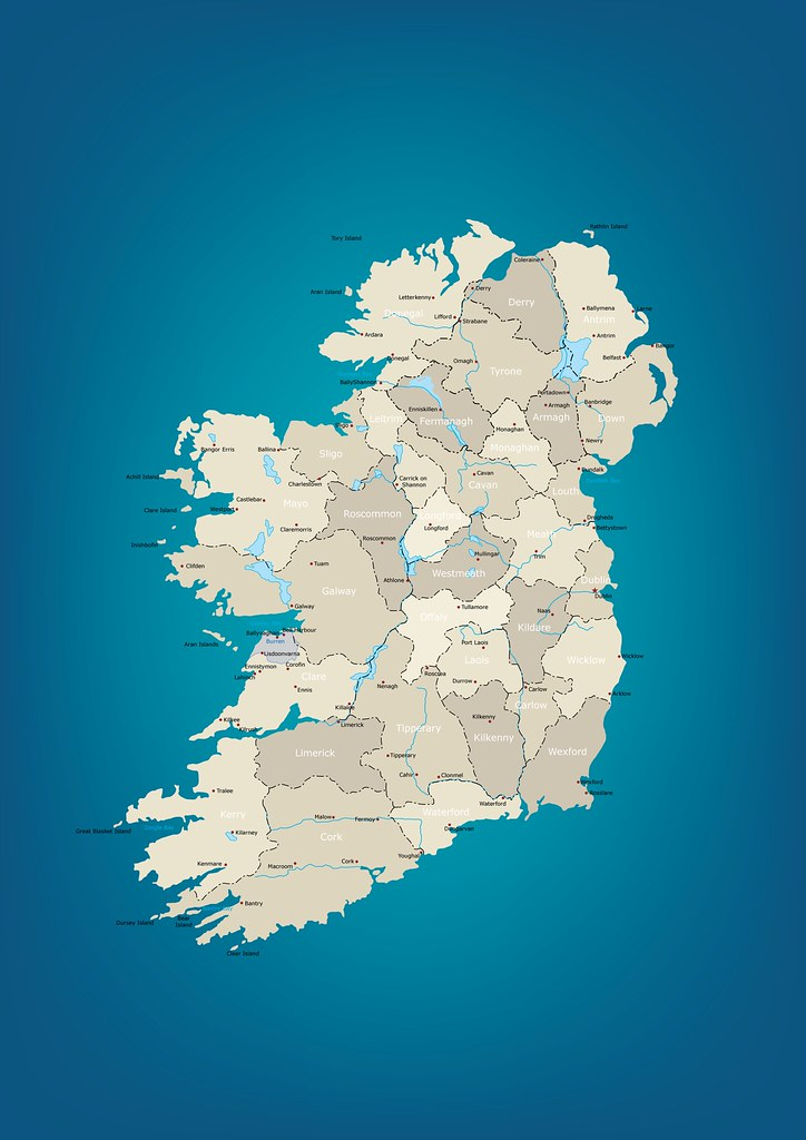 Map of Ireland Vector Map with Layers Free to use under Flickr