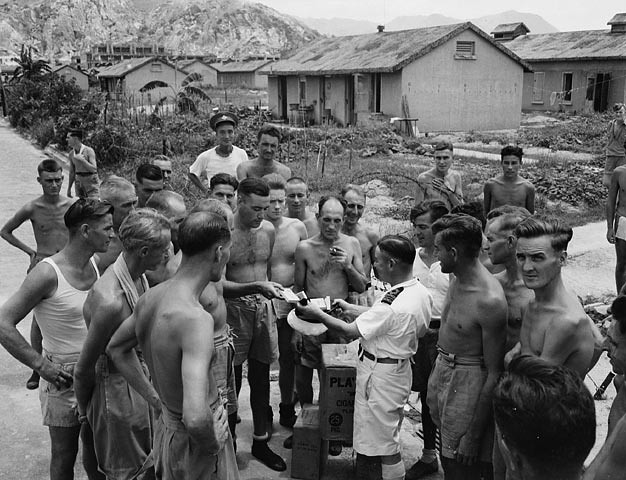 Lt Cmdr Fred Day Of The Hmcs Prince Robert With Liberated Canadian Prisoners
