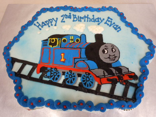 Thomas The Train Cupcake Cake Bertha Quichocho Ross Flickr