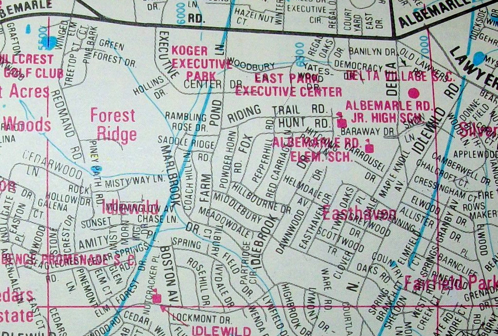 Charlotte NC 1988   Map by Champion Maps. The neighborhood c…   Flickr