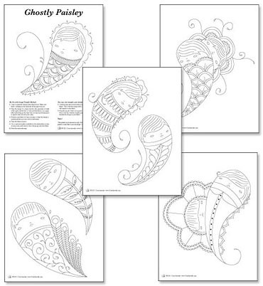 Ghostly Paisley Embroidery Patterns Im Excited To Release Flickr