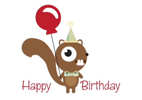 Happy Birthday Squirrel Sweet Tooth Studio Flickr