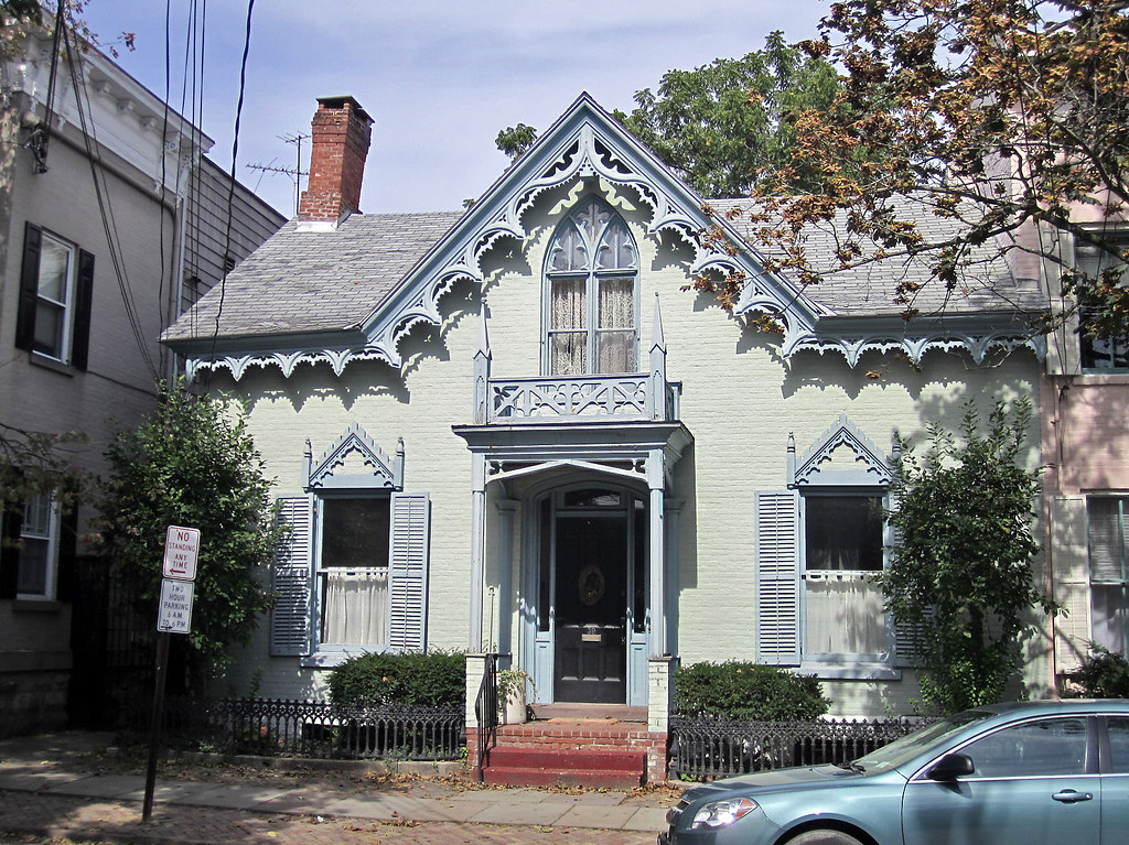 gothic style homes revival house front stockade district sch 11912