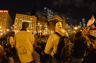 Occupy Chicago Protest Rally at Grant Park Fisheye | by Michael Kappel