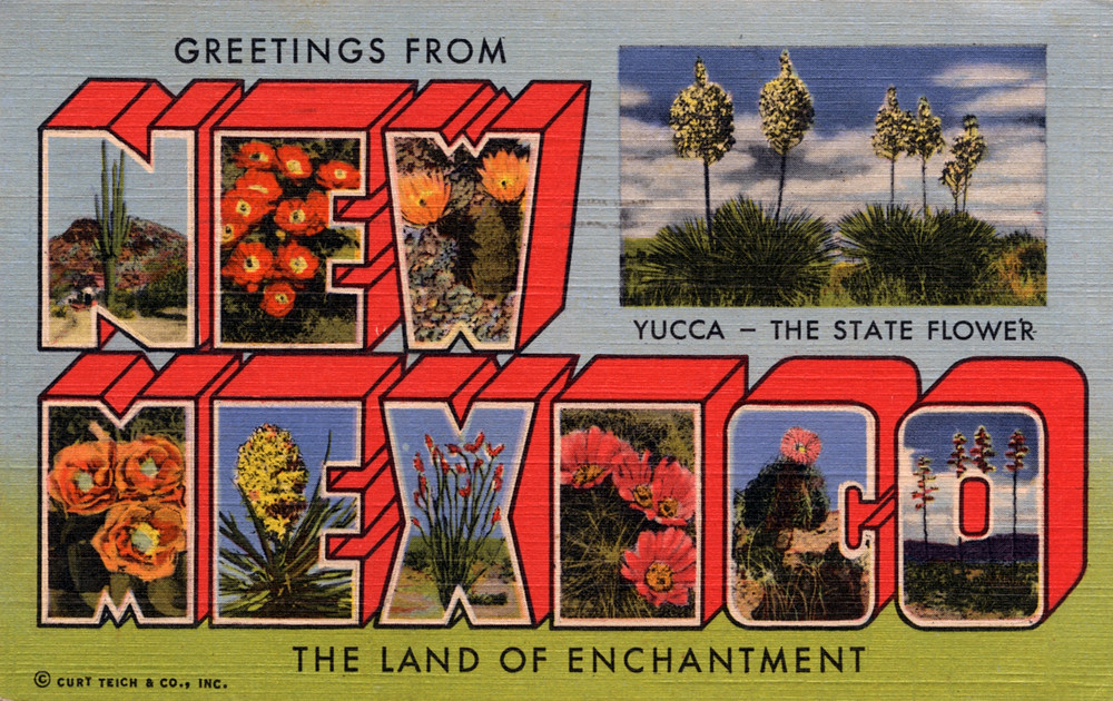 Greatest Greetings from New Mexico, The Land of Enchantment - Large… | Flickr WW95