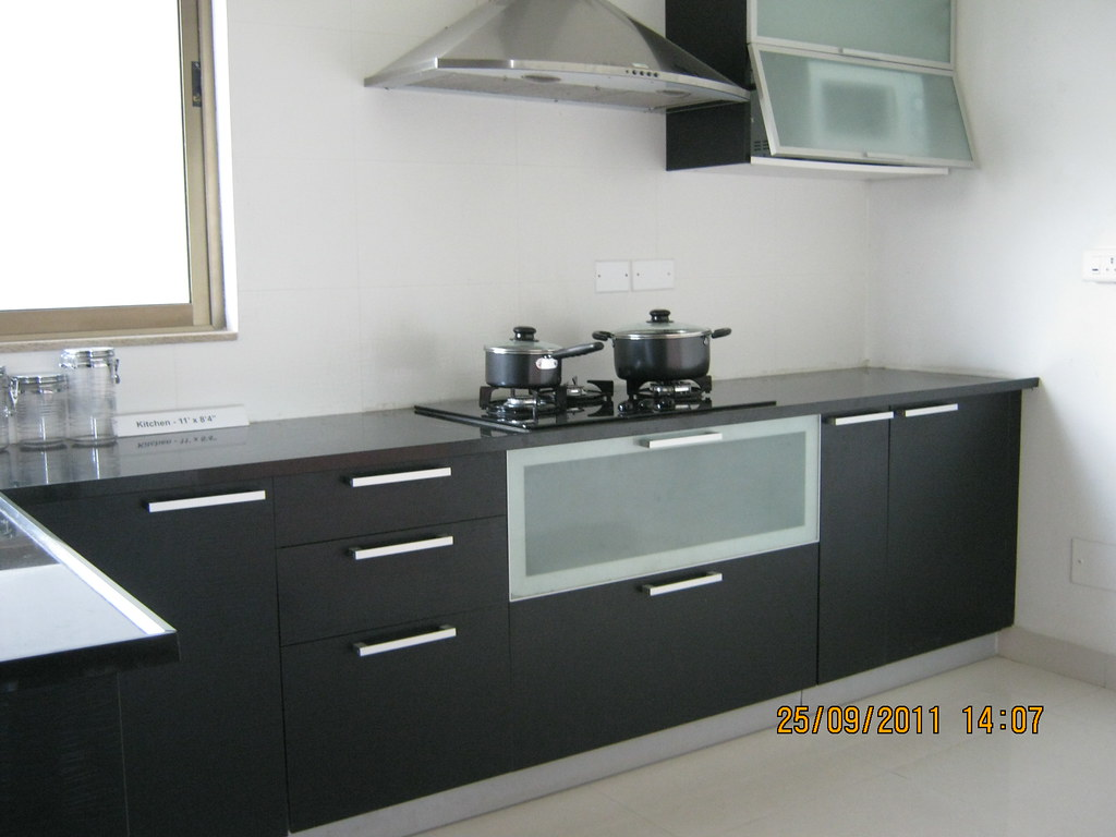 White Kitchen With Tile Floot