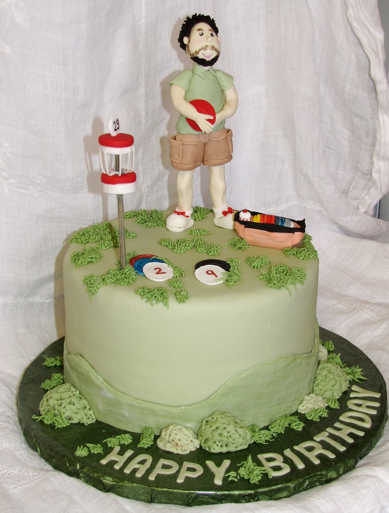 Happy Birthday Disc Golf Cake