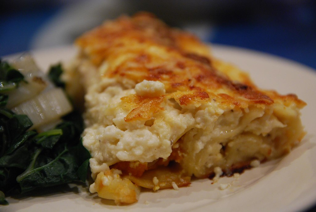 Julia's Pumpkin Canneloni with Ricotta Sauce, silverbeet -… | Flickr