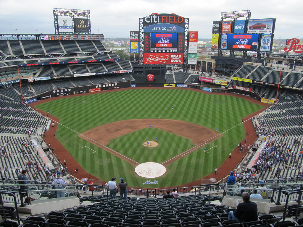 Citi Field Postgame View From The Last With Yankee Stadium Wall Mural
