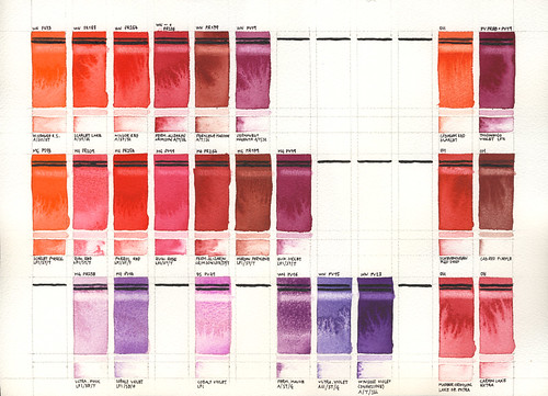 Test Swatches: Red&Violet | by Daniel Novotny Art