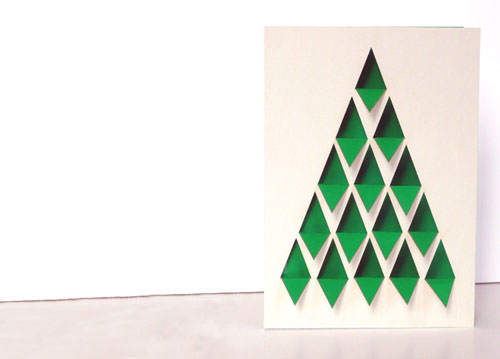 Die cut christmas card folded oout kaybeee flickr for Christmas card 3d designs