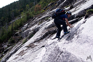 Ascending the lower slabs of Whiteface Ski Slide #3 | by Mountain Visions