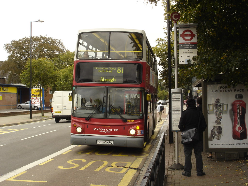 81 to Slough | London United's VA295, an Alexander ALX-bodie… | Flickr