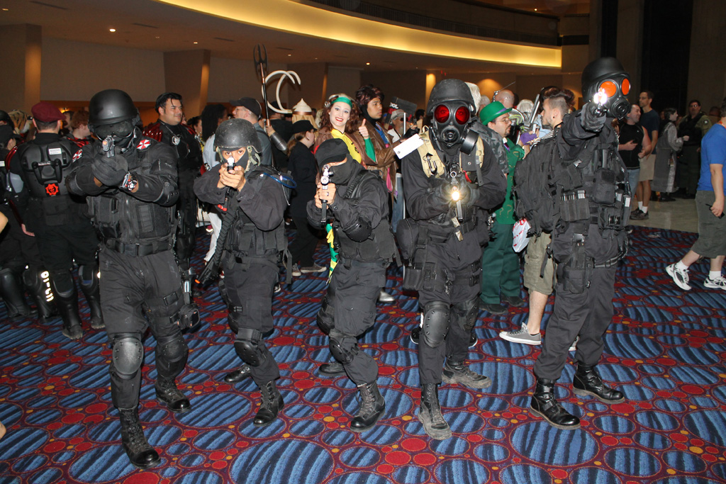 umbrella corp cosplay zombie assassins flickr