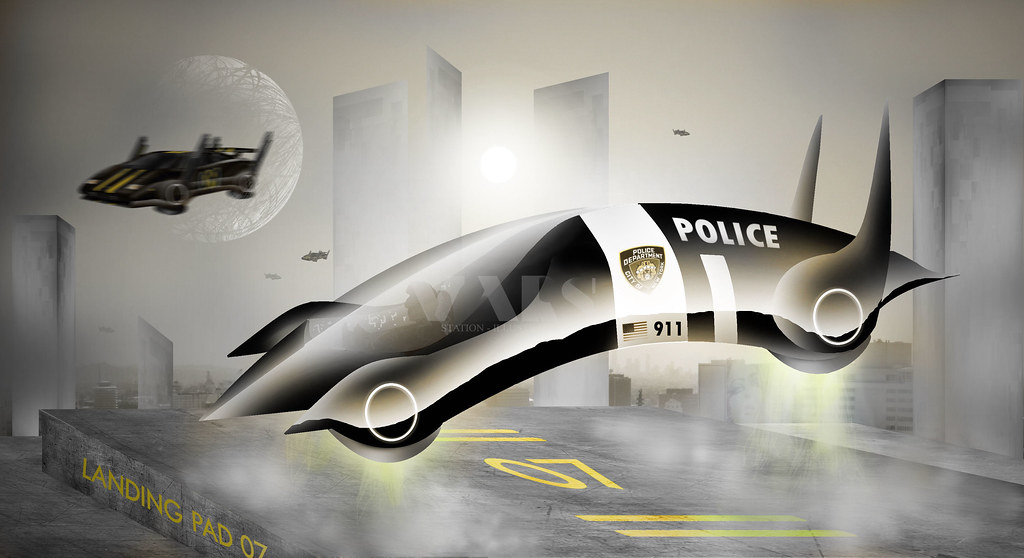 police hover car a american styled hover car from the futu flickr. Black Bedroom Furniture Sets. Home Design Ideas