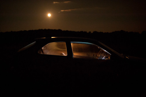 Moonlight in Vermont (and our Car) | by goingslowly