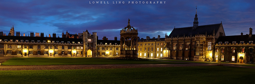 Panoramic view of trinity college great court cambridge - Trinity college swimming pool timetable ...