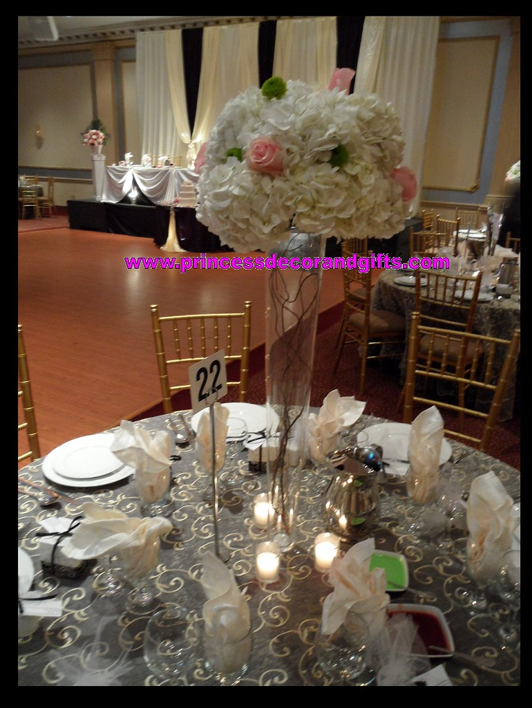 Hydrangea and rose centerpieces quot vase curly willow
