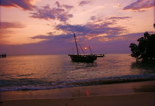 Zanzibar hotel beach sunset | by mitchpa1984