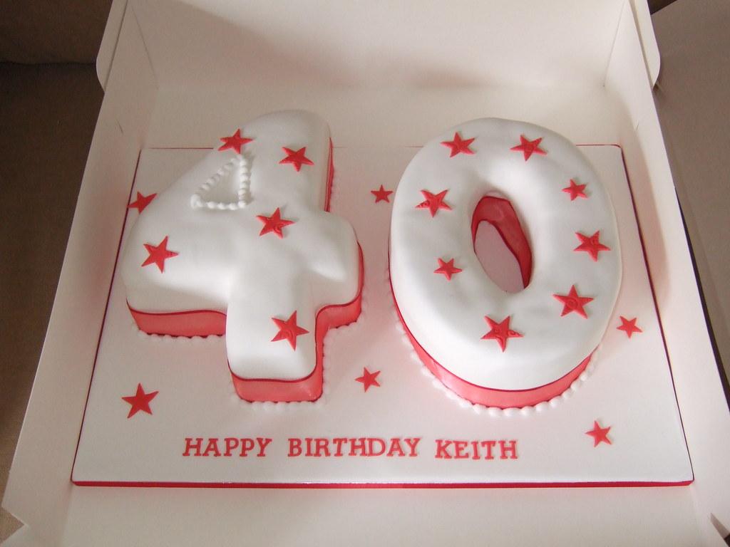 Red Themed 40th Birthday Cake Platypus1974 Flickr