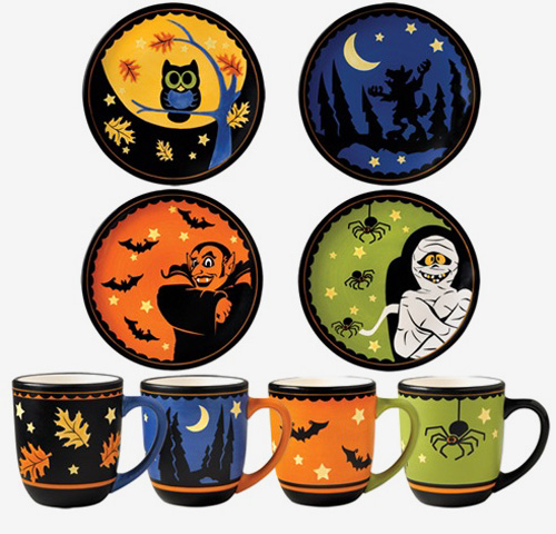 halloween plates by myowlbarn halloween plates by myowlbarn