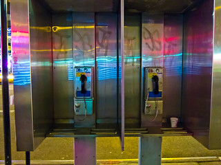 telephone booth with neon | by Susan NYC