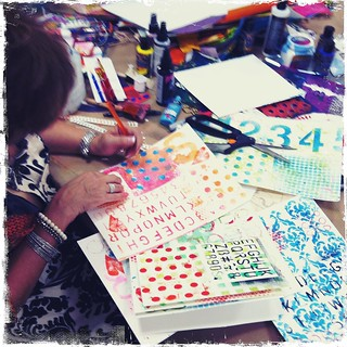 student creating DREAM BIG art journal pages at TCC! | by treiCdesigns