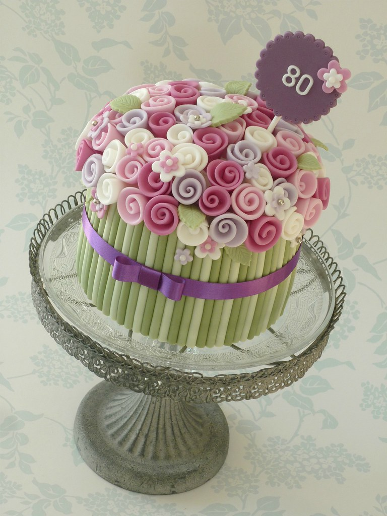 Торт из мастики с цветами своими руками 574