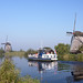 Tourist Boat At Kinderdijk
