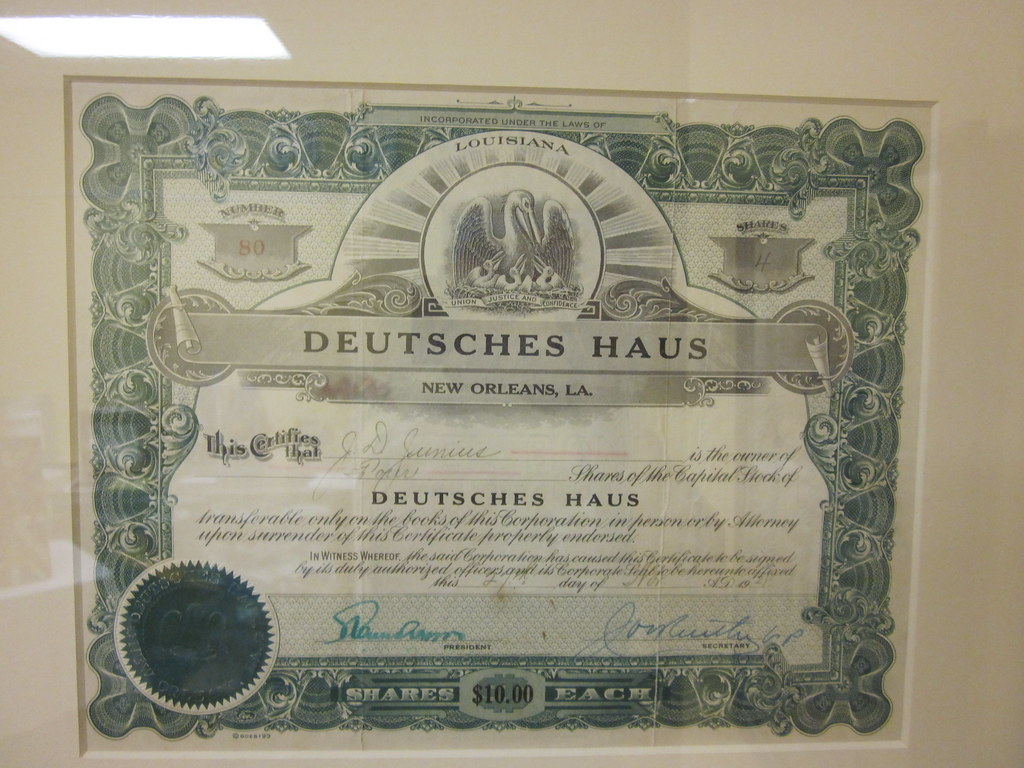 metairie deutsches haus certificate 1928 the new orleans d flickr. Black Bedroom Furniture Sets. Home Design Ideas