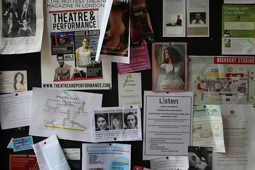 Cafe noticeboard in The Studios in Holloway | by n0tice