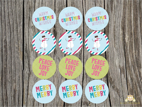 Retro Christmas Party Circles - FREE PRINTABLE | by blush printables