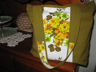 Tote made from recycled fabric | by olearia1968