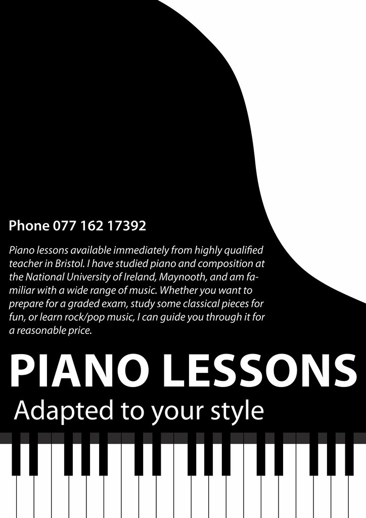 piano lessons poster for a friend onetwentythree flickr. Black Bedroom Furniture Sets. Home Design Ideas