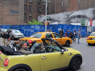 JR on Wooster, with Mini Cooper crew | by Scoboco