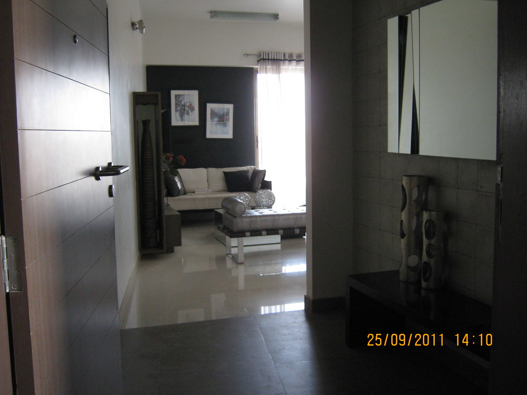 Entrance Lobby Of A 3 Bhk Sample Flat In Tower 1 At Paranj