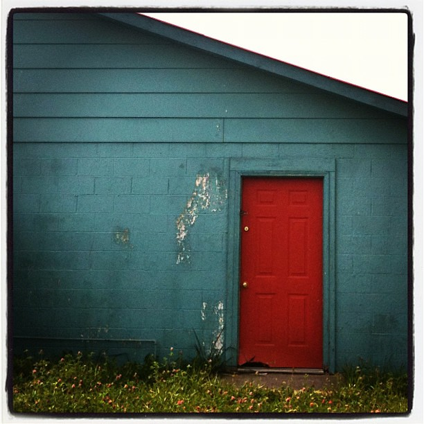 ... Red Door, Blue Barn. #color #diagonal #country #scenic | By