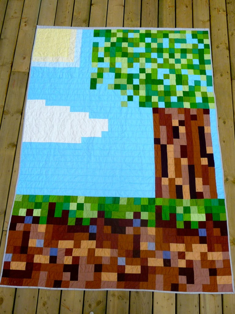 Minecraft Quilt Twin Sized Bed Quilt For My 13 Year Old