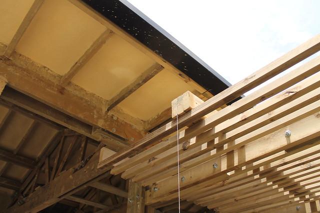Avance de obra casa mila construcci n de p rgolas en - Construccion de pergolas de madera ...