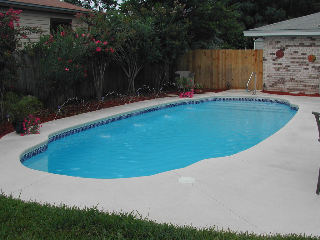 Blue Hawaiian Fiberglass Pools Southwind Model Inground Swimming Pool Flickr