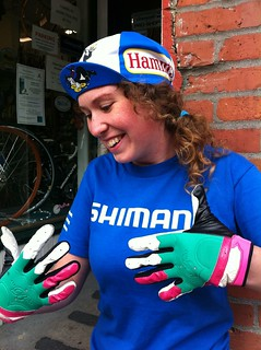 Cameron the Shop Girl's new gloves | by Hugger Industries